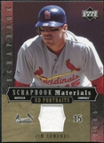2005 Upper Deck UD Portraits Scrapbook Materials #JE Jim Edmonds Jersey