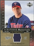2005 Upper Deck UD Portraits Scrapbook Materials #MO Justin Morneau Jersey
