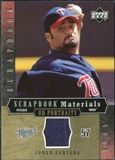 2005 Upper Deck UD Portraits Scrapbook Materials #SA Johan Santana Jersey