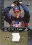 2005 Upper Deck UD Portraits Scrapbook Materials #SM John Smoltz Jersey