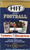 2007 Sage Hit Football Hobby Box