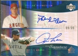 2005 Upper Deck Reflections Dual Signatures Blue #DMJL Dallas McPherson Justin Leone  /35