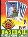 1991 Bowman Baseball Wax Box