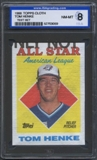 1988 Topps Cloth Baseball Tom Henke ISA 8 (NM-MT) *3059 (Test Set)