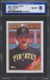 1988 Topps Cloth Baseball Jim Leyland ISA 8 (NM-MT) *3064 (Test Set)