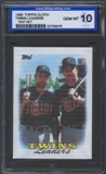 1988 Topps Cloth Baseball Twins Leaders ISA 10 (GEM MINT) *3070 (Test Set)