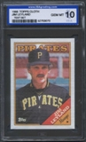 1988 Topps Cloth Baseball Jim Leyland ISA 10 (GEM MINT) *3073 (Test Set)