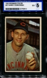 1953 Bowman Color Baseball #87 Harry Perkowski ISA 5 (EX) *0612