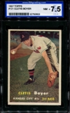 1957 Topps Baseball #121 Cletis Boyer ISA 7.5 (NM+) *0653