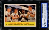 1958 Topps Baseball #351 Braves' Fence Busters (Aaron - Mathews) ISA 5.5 (EX+) *0656