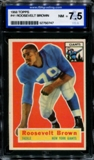 1956 Topps Football #41 Roosevelt Brown ISA 7.5 (NM+) *0747