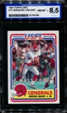 1984 Topps USFL Football #74 Herschel Walker Rookie ISA 8.5 (NM-MT+) *0768
