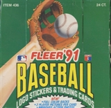 1991 Fleer Baseball Jumbo Box