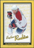 2005/06 Upper Deck Beehive Rookie #108 Alexander Perezhogin RC