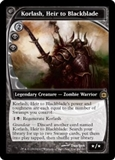 Magic the Gathering Future Sight Single Korlash, Heir to Blackblade Foil