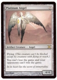 Magic the Gathering 10th Edition Single Platinum Angel - NEAR MINT (NM)