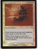 Magic the Gathering Urza's Saga Single Serra Avatar Foil - SLIGHT PLAY (SP)