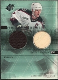 2000/01 Upper Deck SPx Winning Materials #KT Keith Tkachuk Jersey Stick