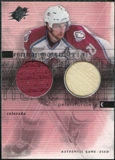2000/01 Upper Deck SPx Winning Materials #PF Peter Forsberg Jersey Stick