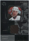 2000/01 Upper Deck Ice Game Jerseys #JCMS Miroslav Satan