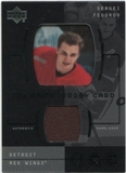 2000/01 Upper Deck Ice Game Jerseys #JCSF Sergei Fedorov