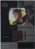2000/01 Upper Deck Ice Game Jerseys #JCSS Sergei Samsonov