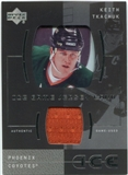 2000/01 Upper Deck Ice Game Jerseys #ITK Keith Tkachuk Upd