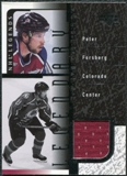 2000/01 Upper Deck Legends Legendary Game Jerseys #JPF Peter Forsberg