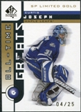 2001/02 Upper Deck SP Authentic Limited Gold #109 Curtis Joseph All Time Great /25