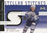 2002/03 Upper Deck UD Piece of History Stellar Stitches Mats Sundin #SSMS