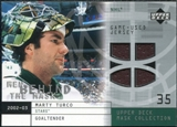 2002/03 Upper Deck UD Mask Collection Behind the Mask #BMMT Marty Turco