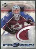 2003/04 Upper Deck Ice Frozen Fabrics #FFDA David Aebischer