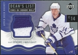 2003/04 Upper Deck Honor Roll #169 Matt Stajan Jersey RC