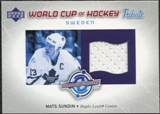 2004/05 Upper Deck World Cup Tribute #MS Mats Sundin