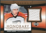 2005/06 Upper Deck Trilogy Honorary Swatches #HSSG Simon Gagne