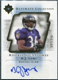 2004 Upper Deck Ultimate Collection #118 B.J. Sams Autograph /250