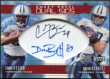 2005 Upper Deck Sweet Spot Sweet Panel Dual Signatures #BD Chris Brown Drew Bennett /10