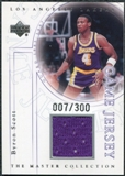 2000 Upper Deck Lakers Master Collection Game Jerseys #BSJ Byron Scott /300