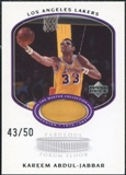2000 Upper Deck Lakers Master Collection Fabulous Forum Floor Cards #KAF Kareem Abdul-Jabbar 43/50