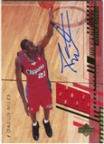 2000/01 Upper Deck Game Jerseys 2 #ADM Darius Miles Autograph