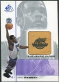 2000/01 Upper Deck SP Game Floor Authentic Floor #CW Chris Webber