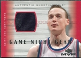 2001/02 Upper Deck MVP Game Night Gear #KVG Keith Van Horn