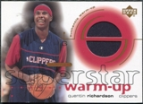 2001/02 Upper Deck Ovation Superstar Warm-Ups #QR Quentin Richardson