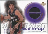 2001/02 Upper Deck Ovation Superstar Warm-Ups #ST John Stockton