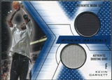 2001/02 Upper Deck SPx Winning Materials #KG2 Kevin Garnett Warm Up / Shirt