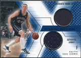 2001/02 Upper Deck SPx Winning Materials #KV Keith Van Horn Warm Up / Jersey