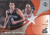 2002/03 Upper Deck All-Star Authentics Warm-Ups #CMAW Chris Mihm
