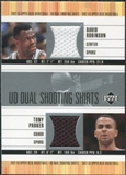 2002/03 Upper Deck Dual Shooting Shirts #DRTPS David Robinson Tony Parker
