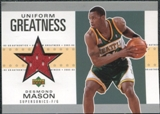 2002/03 Upper Deck UD Authentics Uniform Greatness #DMU Desmond Mason