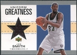 2002/03 Upper Deck UD Authentics Uniform Greatness #JSU Joe Smith